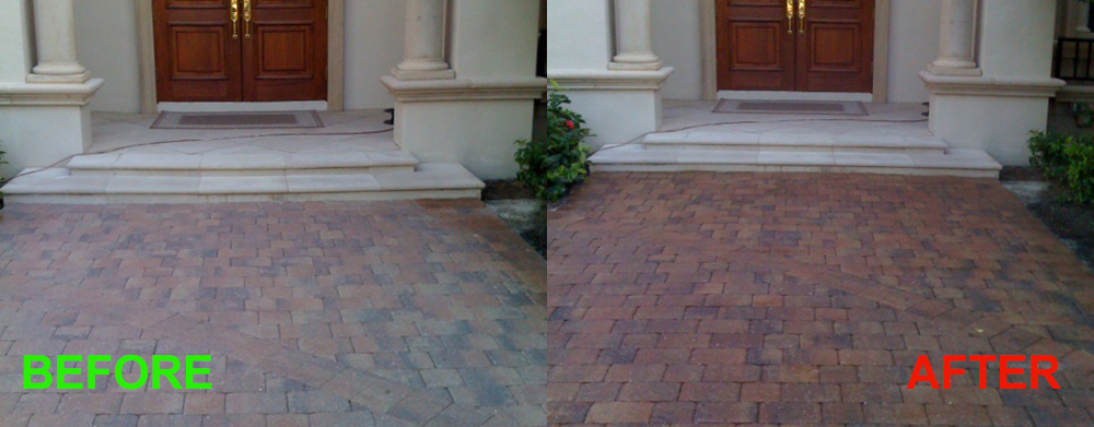 Brick Paver Natural Stone Cleaning Sealing Restoration Exterior