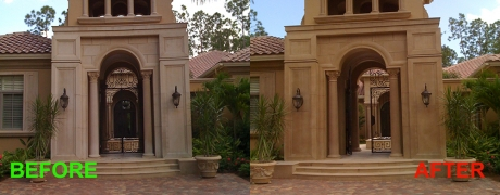 precast-sandstone-restoring-recoloring-sealing-detailed-pressure-washing-wood-staining-04